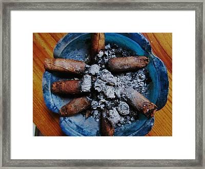Blue Smoke Framed Print by Todd Sherlock