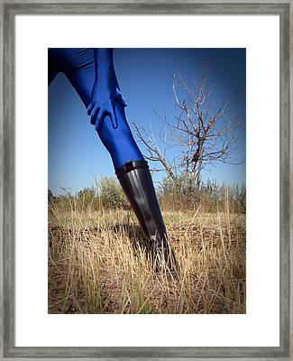 Blue Solitary 07 Framed Print by Michael Knight
