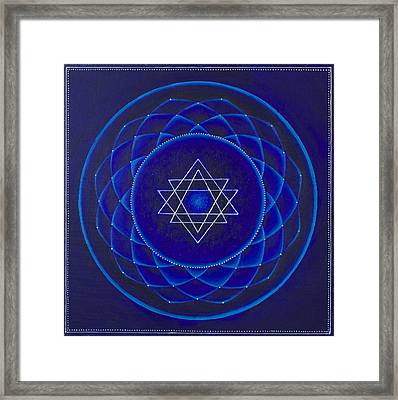 Blue Space Framed Print
