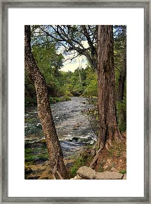 Framed Print featuring the photograph Blue Spring Branch by Marty Koch