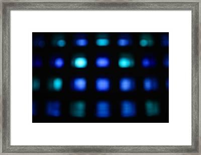 Blue Squares Framed Print by Snow White