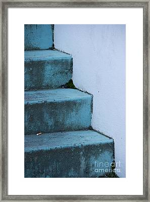 Blue Stairs Framed Print