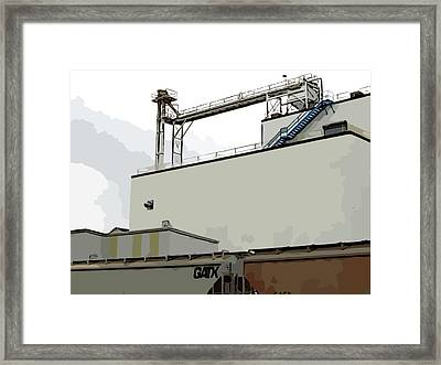 Blue Stairway Framed Print by MJ Olsen