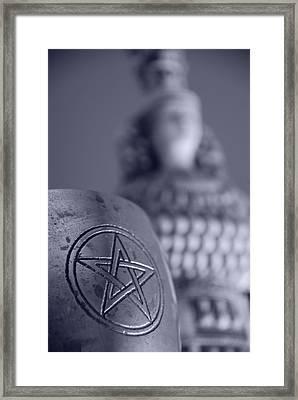 Blue Star Framed Print by JP Rhea