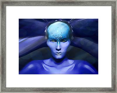 Blue Star Framed Print by Yosi Cupano