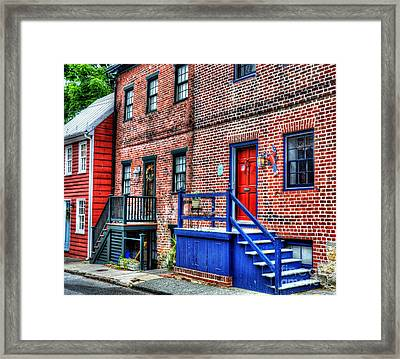 Blue Steps Framed Print by Debbi Granruth