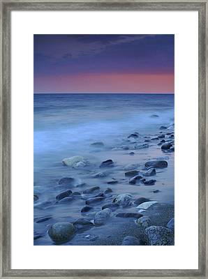 Blue Stones Framed Print by Guido Montanes Castillo