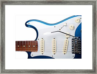 Blue Strat Framed Print