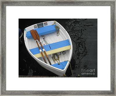 Framed Print featuring the photograph Blue Stripes by Louise Peardon