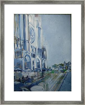 Blue Study Of Chartre Framed Print