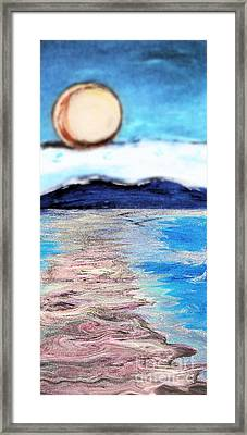 Blue Sunrise Rendered Framed Print