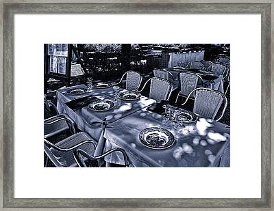 Framed Print featuring the photograph Blue Table by Rick Bragan