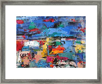 Blue Talamone Framed Print