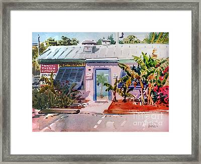 Blue Tarpon Resturant Framed Print by Donald Maier