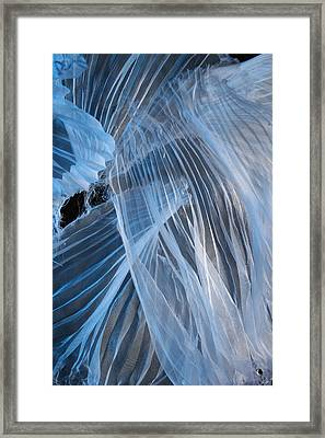 Framed Print featuring the photograph Blue Texture by Gillian Charters - Barnes