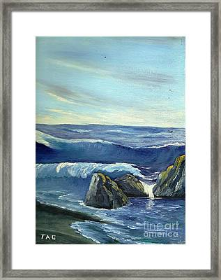 Blue Tides Of Time Framed Print