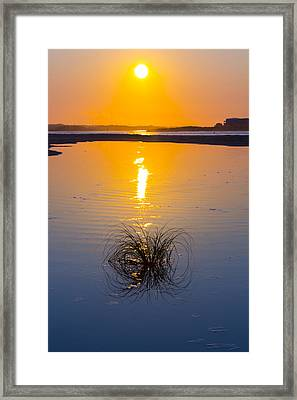 Blue To Orange Framed Print by Alan Raasch