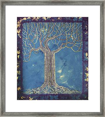 Blue Tree Framed Print by Alain  Guiguet