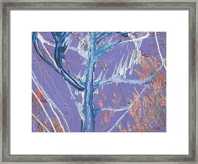 Blue Tree Framed Print by Anne-Elizabeth Whiteway