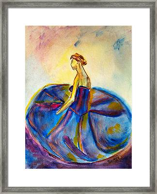 Blue Tutu Framed Print by Donna Blackhall