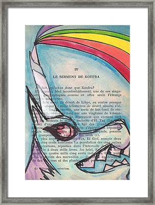 Blue Unicorn Framed Print by Jera Sky