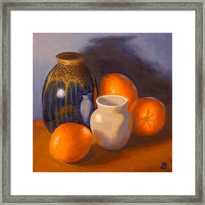 Blue Vase Framed Print