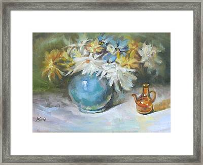 Blue Vase Framed Print by Patricia Seitz
