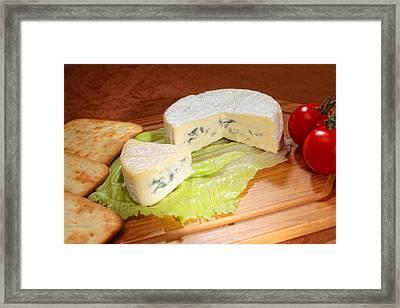 Blue-veined Camembert Framed Print by Paul Cowan