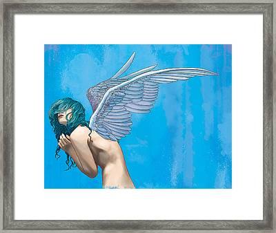 Blue Framed Print by Vincent Danks