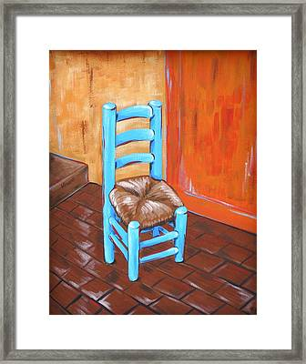 Blue Vincent Framed Print by JW DeBrock
