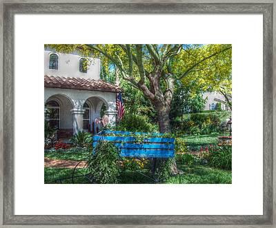 Blue Wagon Framed Print by Cindy Nunn