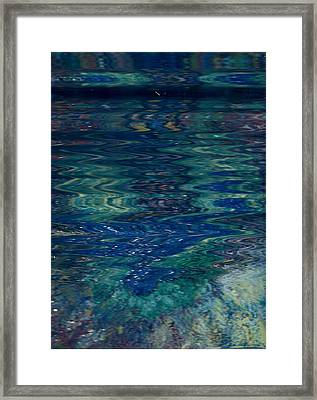 Blue Wake Framed Print by Anne-Elizabeth Whiteway