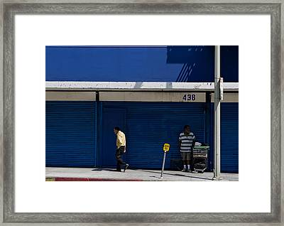 Framed Print featuring the photograph Blue Wall At 438 by Lorraine Devon Wilke