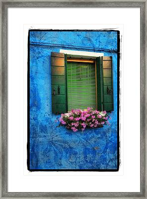 Blue Wall Framed Print by Mauro Celotti