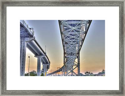 Blue Water Bridge Port Huron Mi Framed Print