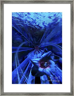 Blue Waterflower Framed Print