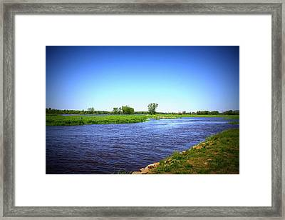 Blue Waters Framed Print