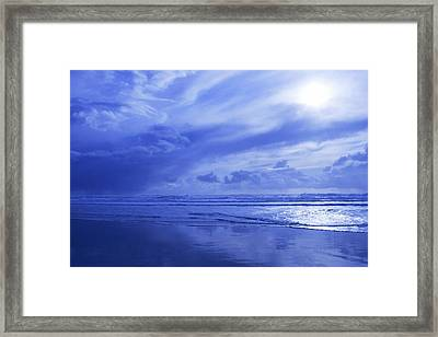 Blue Waterscape Framed Print