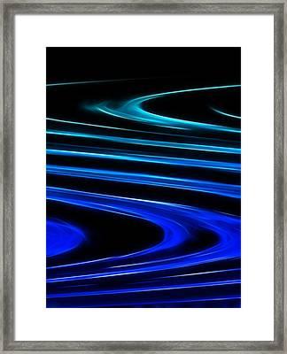 Blue Waves Framed Print by Ricky Barnard