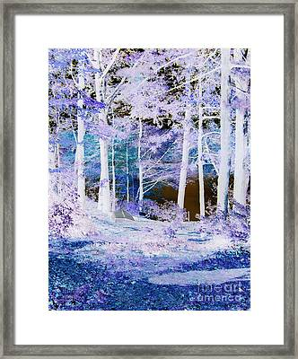 Blue Way Framed Print
