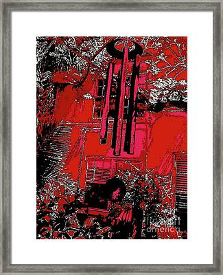 Blue Wind Chimes 34 Framed Print by Nina Kaye