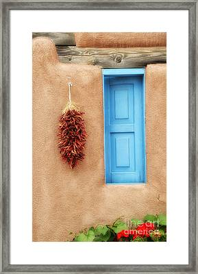 Blue Window Chillies Framed Print by Tamera James