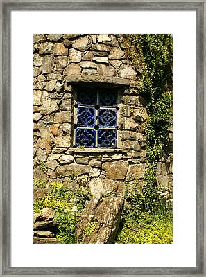 Blue Window Framed Print by Margaret Steinmeyer
