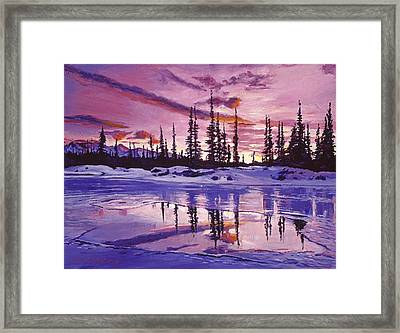 Blue Winter Sunrise Framed Print by David Lloyd Glover