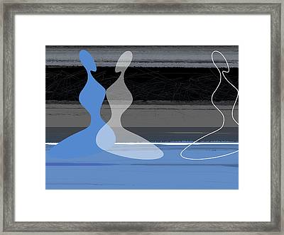 Blue Women Framed Print by Naxart Studio