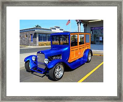 Blue Woody Framed Print by Pamela Patch
