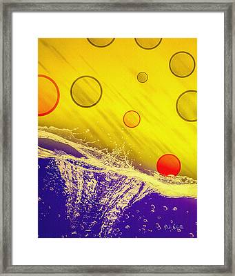 Blue Yellow Red Framed Print by Bob Orsillo