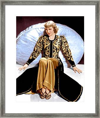 Bluebeards Eighth Wife, Claudette Framed Print by Everett