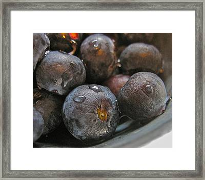 Framed Print featuring the photograph Blueberries  by Bill Owen