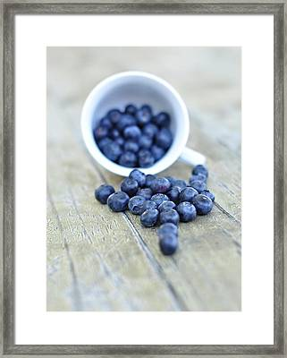 Blueberries In Cup Framed Print by Anna Hwatz Photography Find Me On Facebook